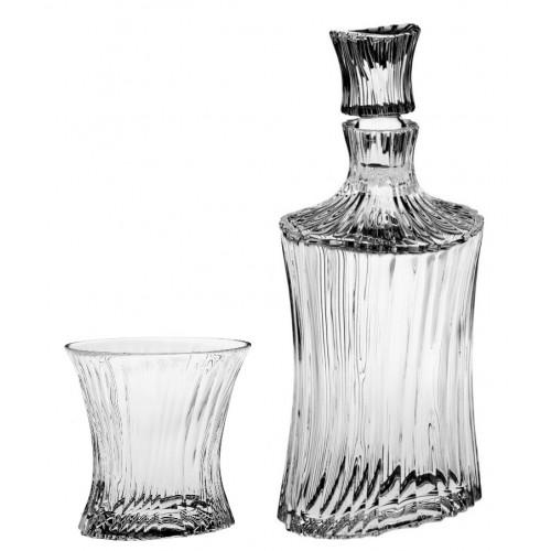 Krištáľový set Whisky Orcan 1+6, farba číry krištáľ