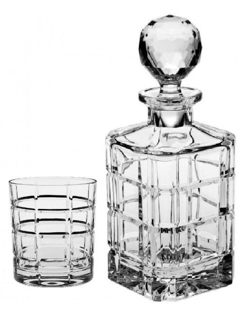 Krištáľový set Whisky Timesquare 1+6, číry krištáľ