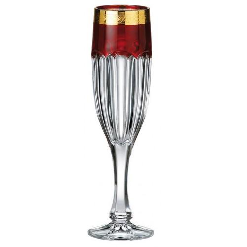 Set pohár na víno Safari rubín - zlato 6x, bezolovnatý crystalite, objem 150 ml