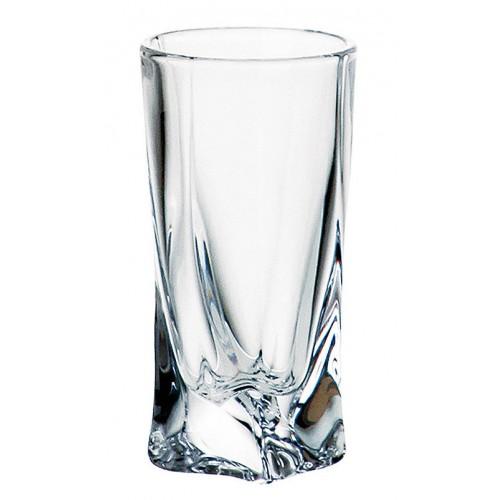 Pohárik Quadro, bezolovnatý crystalite, objem 50 ml