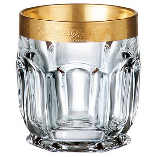 Set pohár Safari zlato 6x, bezolovnatý crystalite, objem 250 ml