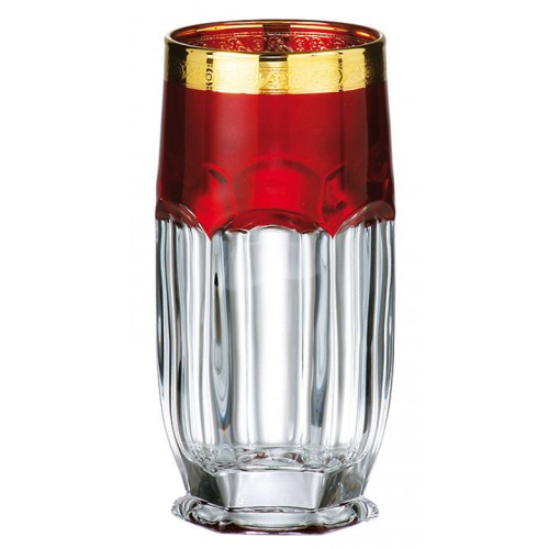 Set pohár Safari rubín - zlato 6x, bezolovnatý crystalite, objem 300 ml