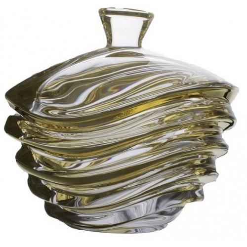 Dóza Wave zlato, bezolovnatý crystalite, priemer 220 mm