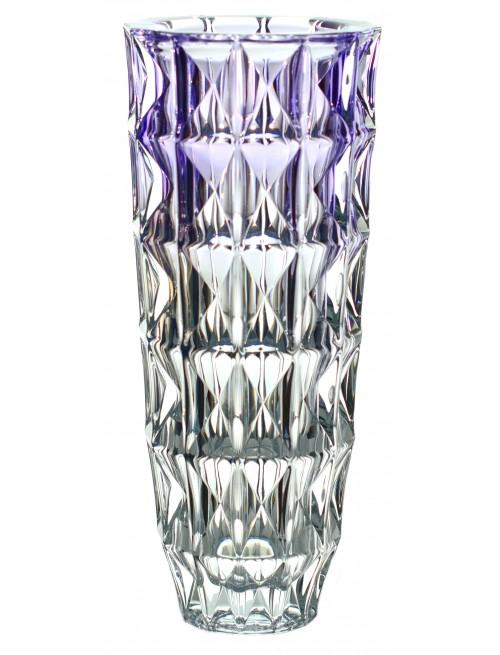 Váza Diamond, bezolovnatý crystalite, farba fialová, výška 330 mm