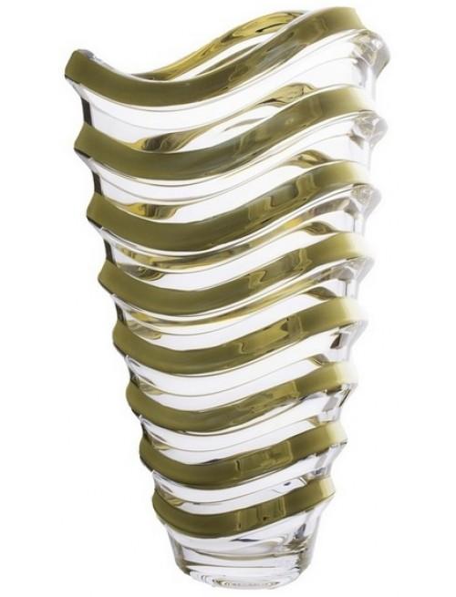 Váza Wave zlato, bezolovnatý crystalite, výška 340 mm