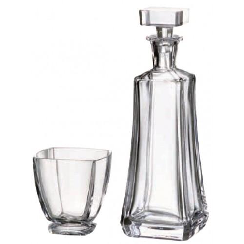 Set Whisky Arezzo 1+6, bezolovnatý crystalite, objem 700 ml + 320 ml