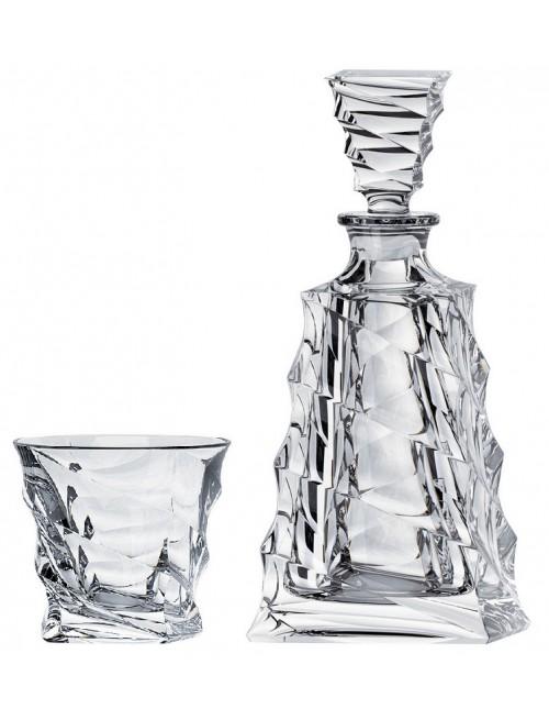 Set Whisky Casablanca 1+6, bezolovnatý crystalite