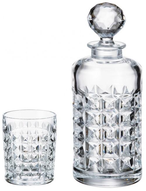 Set Whisky Diamond 1+6, bezolovnatý crystalite