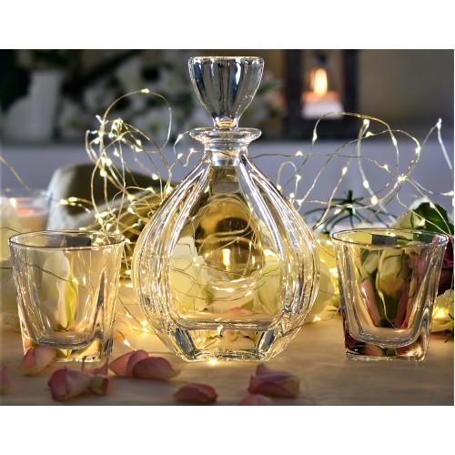 Set Whisky Laguna 1+6, bezolovnatý crystalite