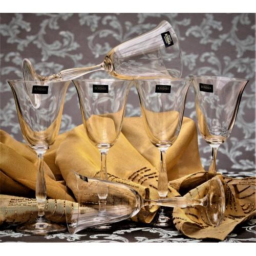 Set pohár na víno Fregata 6x, bezolovnatý crystalite, objem 350 ml