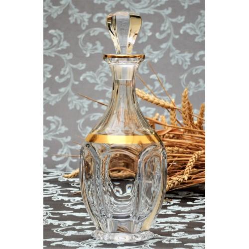 Fľaša Safari zlato, bezolovnatý crystalite, objem 800 ml
