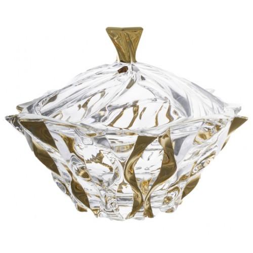 Dóza Samba zlato, bezolovnatý crystalite, priemer 210 mm