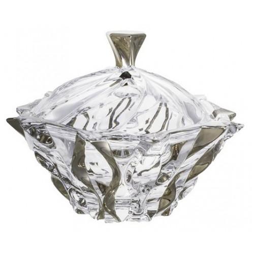 Dóza Samba platina, bezolovnatý crystalite, priemer 210 mm