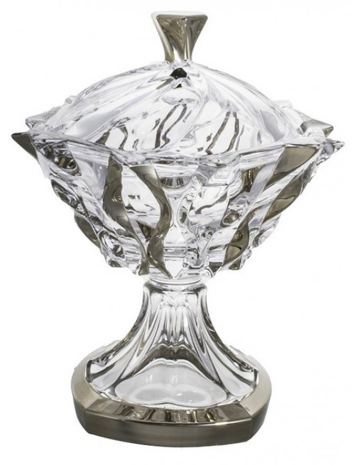 Dóza Samba platina, bezolovnatý crystalite, priemer 250 mm