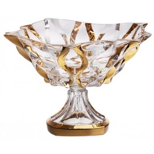 Misa na nohe Samba zlato, bezolovnatý crystalite, priemer 305 mm