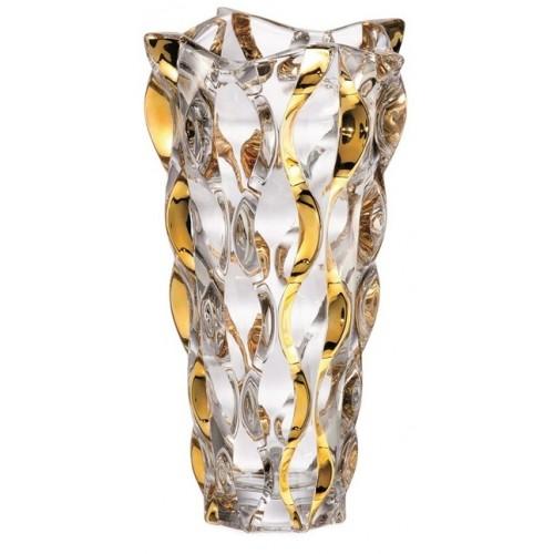 Váza Samba zlato, bezolovnatý crystalite, výška 305 mm
