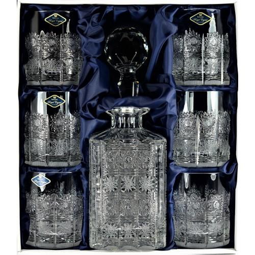 Set Whisky 1+6, farba číry krištáľ, objem 800 ml + 320 ml