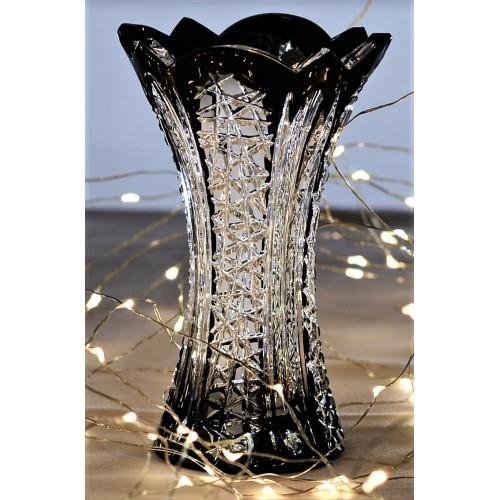 Krištáľová váza Frigus, farba čierna, výška 155 mm