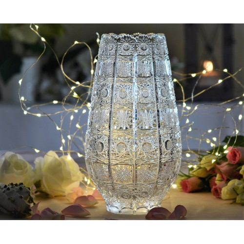 Krištáľová váza 500PK, farba číry krištáľ, výška 255 mm