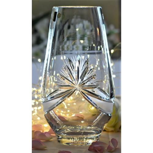 Krištáľová váza Mašľa, farba číry krištáľ, výška 255 mm