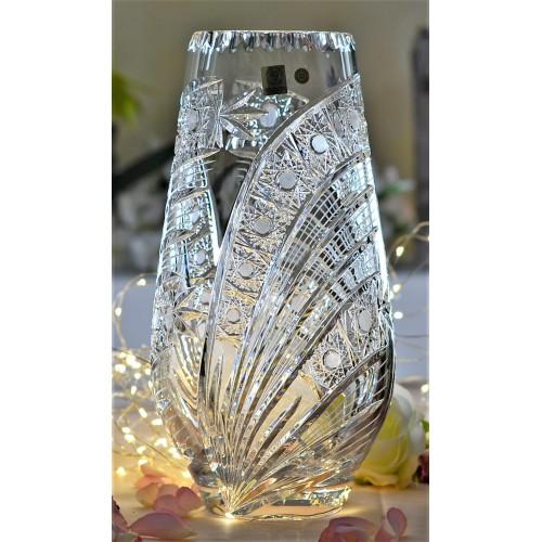 Krištáľová váza Kometa, farba číry krištáľ, výška 305 mm