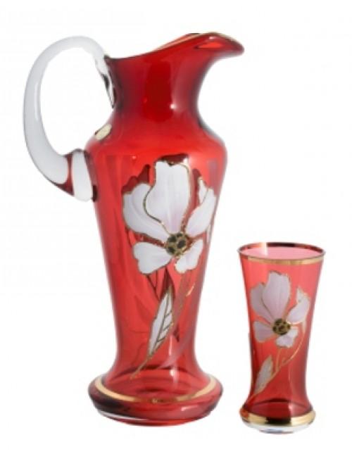 Set Kvet 1+6, farba rubínová
