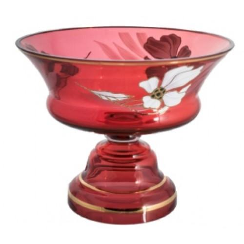 Misa na nohe Kvet, farba rubínová, priemer 260 mm