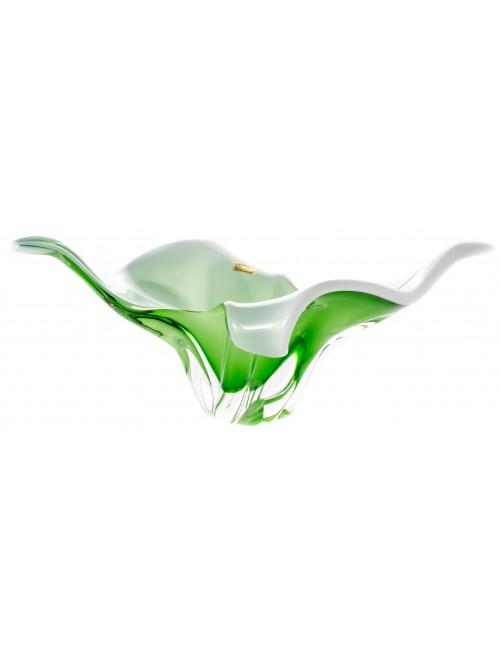 Misa hutné sklo, farba zelená opál , priemer 430 mm