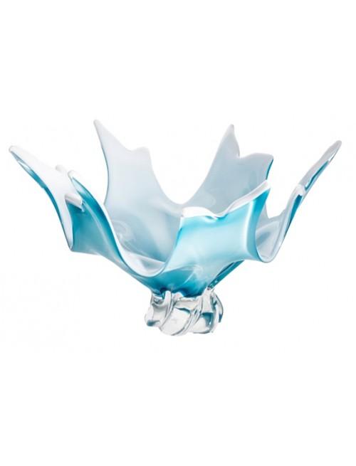 Misa hutné sklo, farba azúrová opál , priemer 380 mm