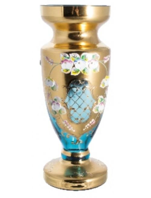 Váza, vysoký smalt II, farba azúrová, výška 400 mm