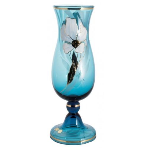Váza Kvet, farba azúrová, výška 410 mm