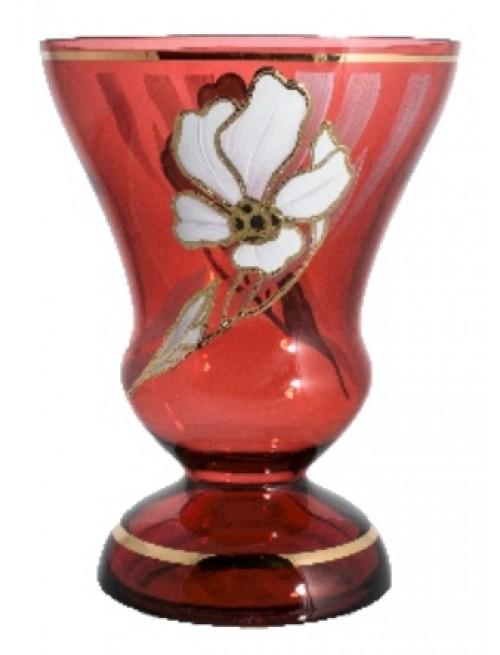 Váza Kvet, farba rubínová, výška 205 mm