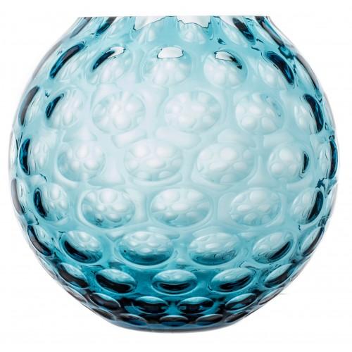 Váza Optika, farba azúrová, výška 205 mm