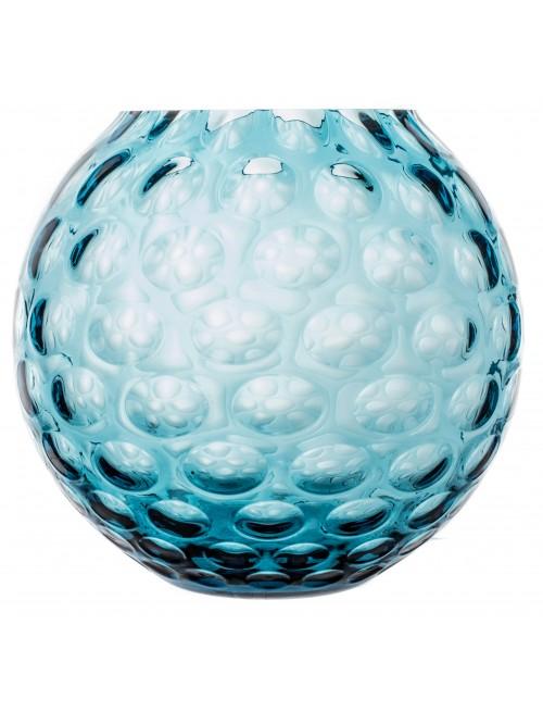 Váza Optika, farba azúrová, výška 255 mm