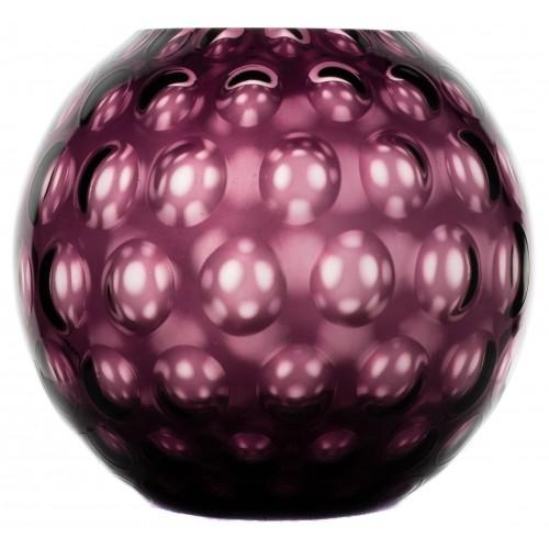 Váza Optika, farba fialová, výška 255 mm