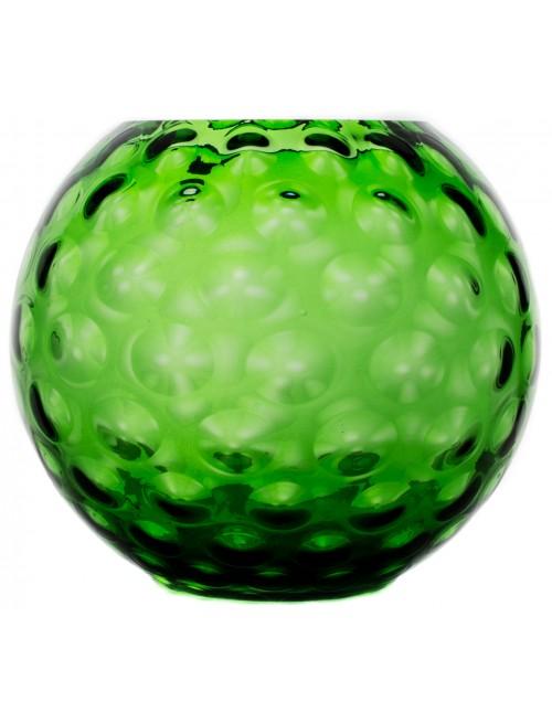 Váza Optika, farba zelená, výška 255 mm