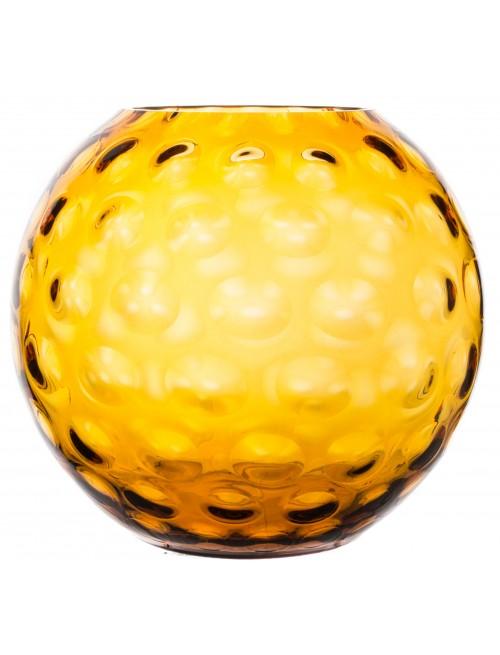 Váza Optika, farba jantárová, výška 255 mm