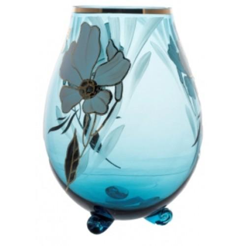 Váza Kvet, farba azúrová, výška 260 mm