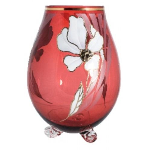 Váza Kvet, farba rubínová, výška 260 mm