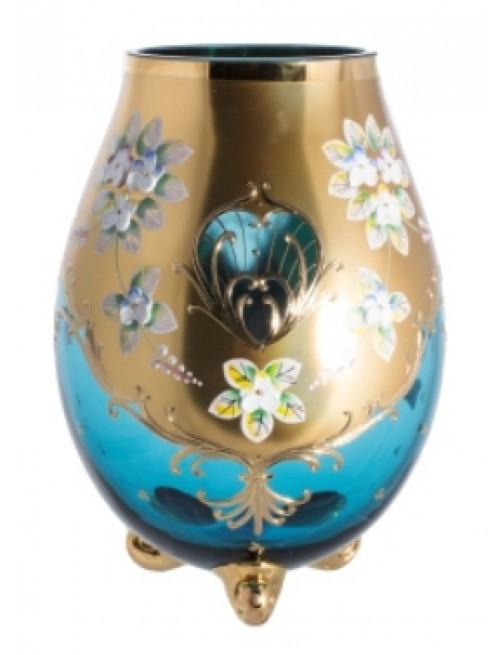 Váza, vysoký smalt, farba azúrová, výška 260 mm