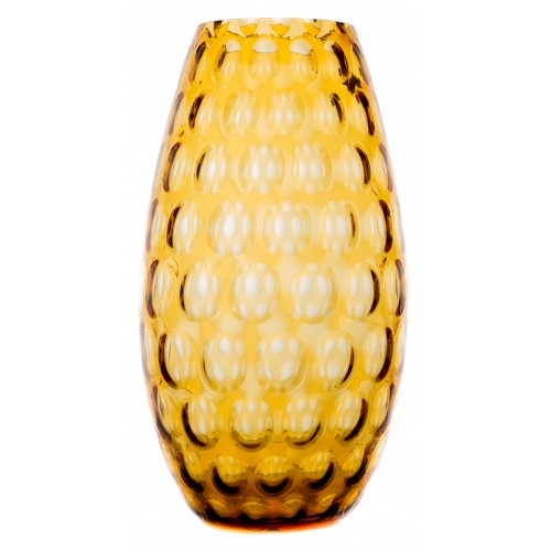 Váza Optika, farba jantárová, výška 325 mm