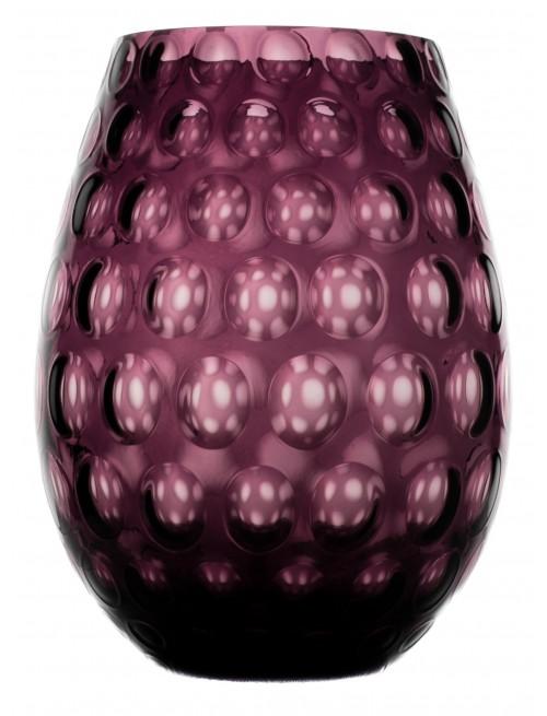 Váza Optika, farba fialová, výška 250 mm