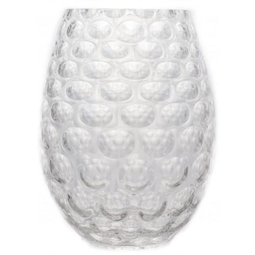 Váza Optika, číre sklo, výška 250 mm