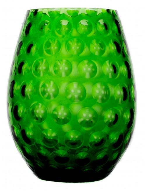 Váza Optika, farba zelená, výška 250 mm