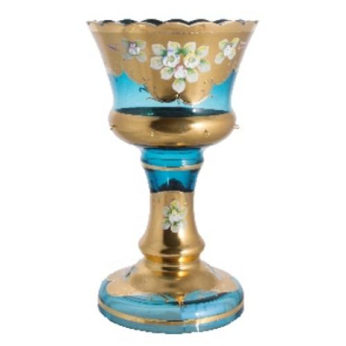 Váza, vysoký smalt, farba azúrová, výška 310 mm