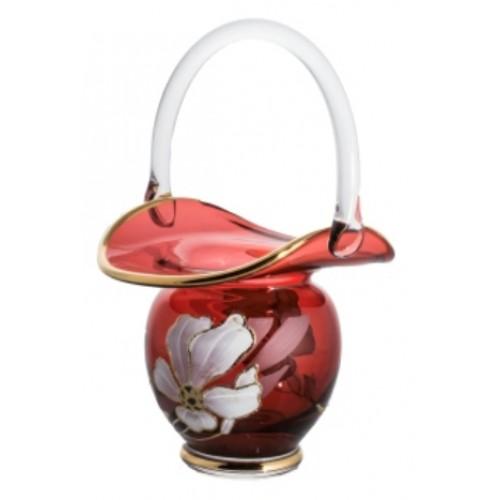 Koš Kvet, farba rubínová, výška 150 mm