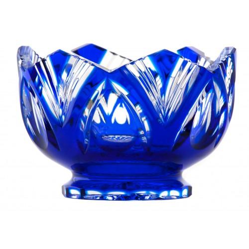 Krištáľová miska Lotos, farba modrá, priemer 104 mm