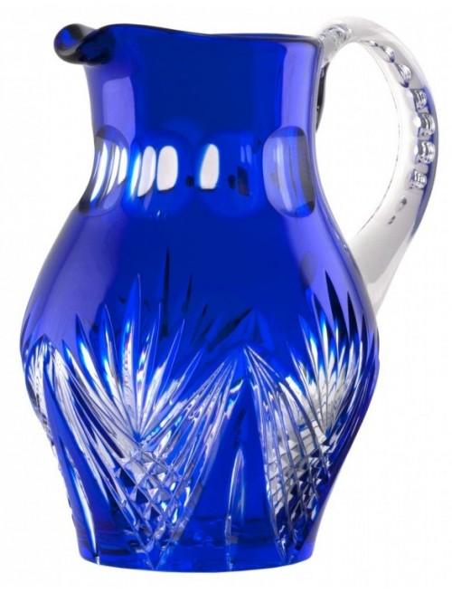 Krištáľový džbán Janette, farba modrá, objem 1500 ml