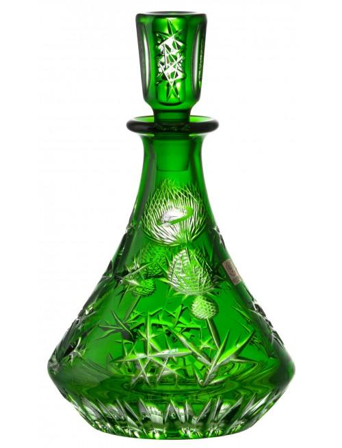 Krištáľová fľaša Thistle, farba zelená, objem 800 ml