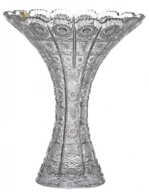 Krištáľová váza 500PK, farba číry krištáľ, výška 300 mm